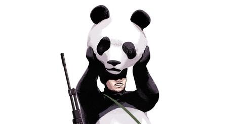 Blut an den Tatzen des Pandas