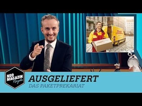 """""""Die neue ausgebeutete Arbeiterklasse"""" – Böhmermann zu den Arbeitsbedingungen von Paketboten und Co."""