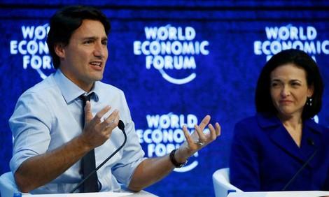 Der hübscheste Feminist der Welt: Der kanadische Premierminister Justin Trudeau in Davos