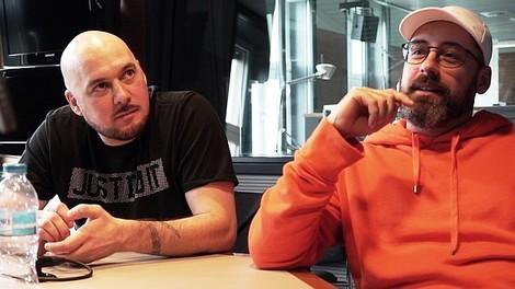 Böse Rapper artig beisammen: Kool Savas und Sido beim Deutschlandfunk