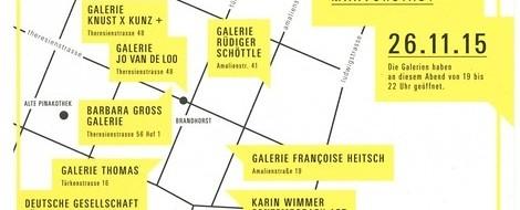"""Hot! New! Vor Allem: Arty! Neue Initiative für Münchner Galerien: Der erste """"Artwalk""""."""