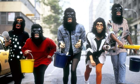 Guerrilla Girls in Gorillamasken
