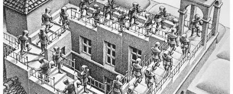 M. C. Eschers perspektivische Unmöglichkeiten – Zeit, mal in Brühl eine VR-Brille aufzusetzen