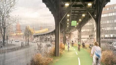 Neun Kilometer Radweg unter der Berliner U1 - eine schöne Idee.