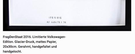 Frag den Staat: Edition Volkswagen