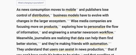 Die Zukunft des Journalismus – in einem Absatz