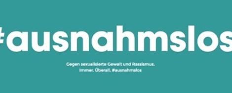#ausnahmslos: Kampagne gegen sexualisierte Gewalt und Rassismus – nicht nur im Netz
