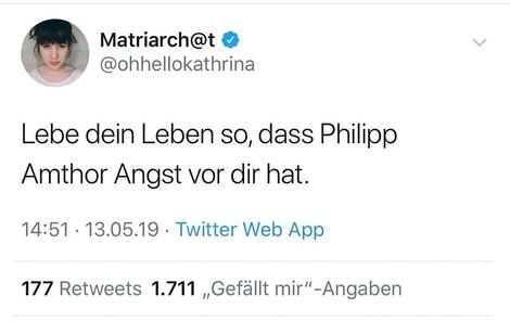 """""""Lebe dein Leben so, dass Philipp Amthor Angst vor dir hat!"""""""