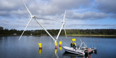 Neue Windkraftanlagen für tiefe Meeresgebiete