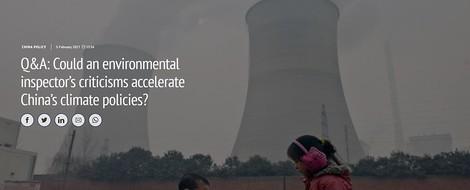 """Chinas """"Zentrales Umweltinspektionsteam"""" treibt Dekarbonisierung an"""